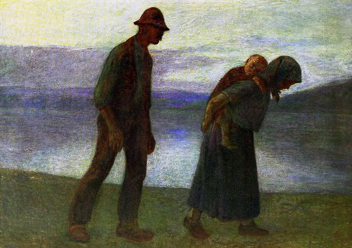 Hazafelé (színverzió 1.), Kernstok Károly