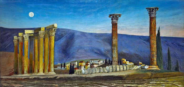 A Jupiter-templom romjai Athénban (színverzió 2), Csontváry Kosztka Tivadar