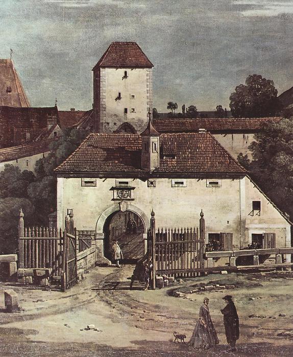 Pirna, délről nézve (részlet), Canaletto