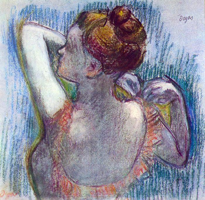 Balett- táncosnő háttal, Edgar Degas