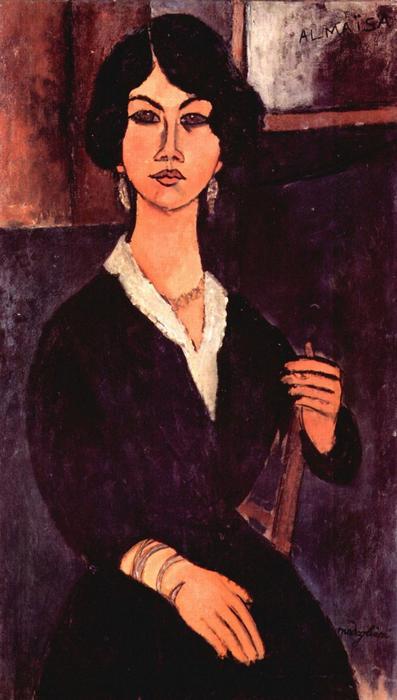 Ülő nő portréja, Modigliani