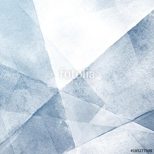 Watercolor light blue background. Hand painted abstractly crumpled folded paper. Triangle geometric pattern., Premium Kollekció