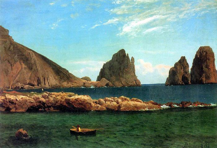 Capri sziklái, Albert Bierstadt