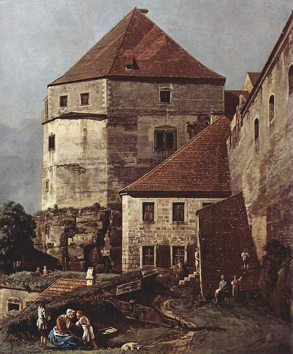 Pirna, Sonnenstein (részlet), Canaletto