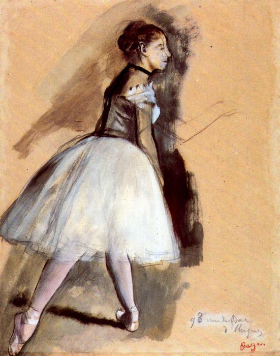 Balett-táncosnő alapállásban, Edgar Degas