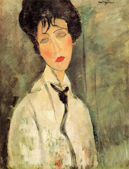 Nő fekete nyakkendővel, Modigliani