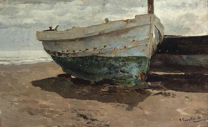 Csónakok a parton, Joaquin Sorolla