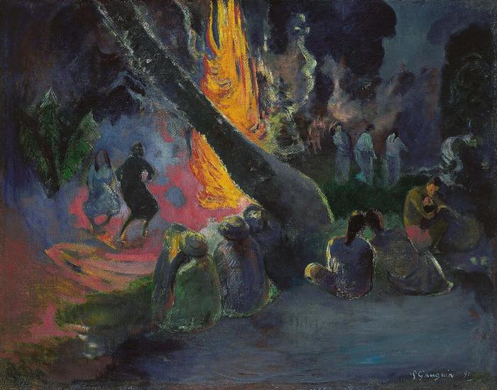 Upa Upa (A tűztánc), Paul Gauguin