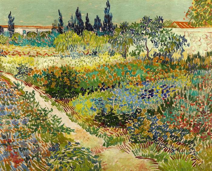 Virágoskert Arles-ban, Vincent Van Gogh