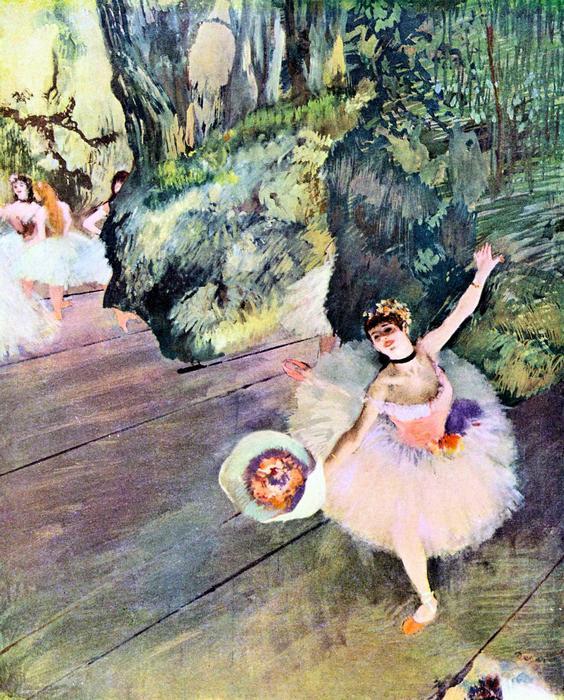 Balett-táncosnő virágcsokorral, Edgar Degas