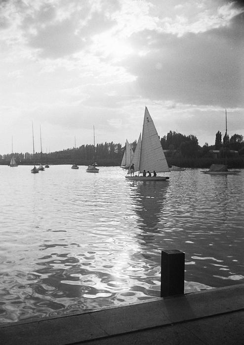 Balatonfüred kikötő (1952), FORTEPAN