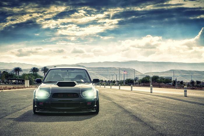 Subaru Impreza az úton,