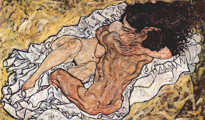 Ölelés, Egon Schiele