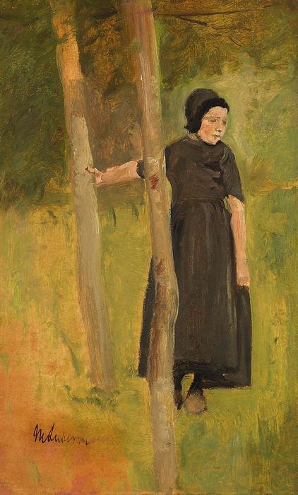 Fiatal lány a fa alatt, Max Liebermann