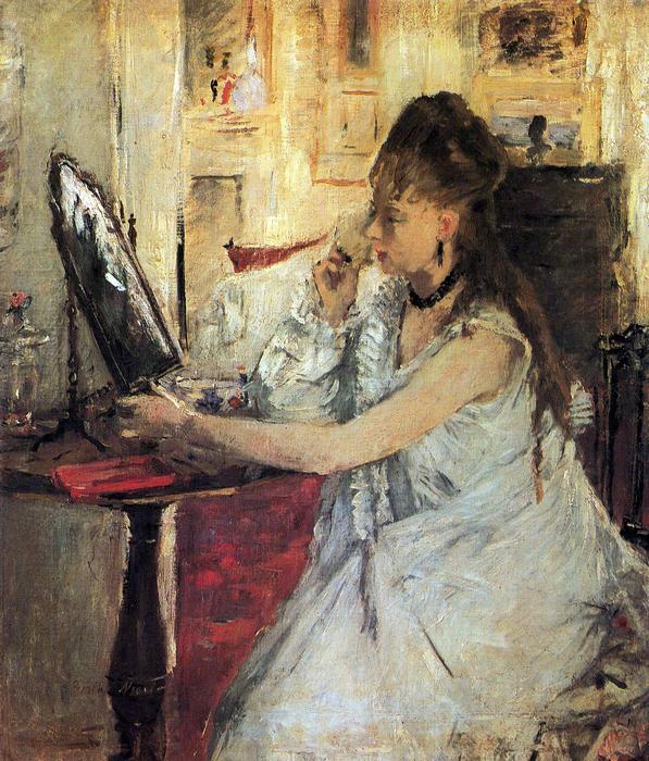 Arcát púderező fiatal nő, Berthe Morisot