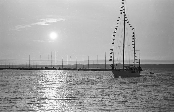 Siófok vitorláskikötő (1965), FORTEPAN