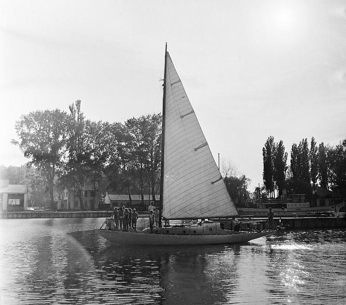 Siófok, kikötő (1959), FORTEPAN