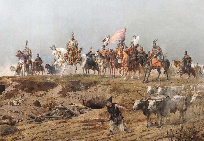 A magyarok bejövetele (részlet), Feszty Árpád