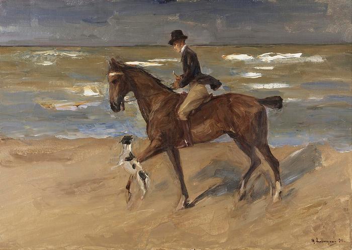 Lovas a tengerparton (1911), Max Liebermann