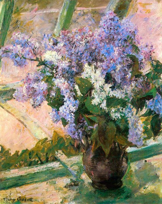 Virágok az ablakban, Mary Cassatt