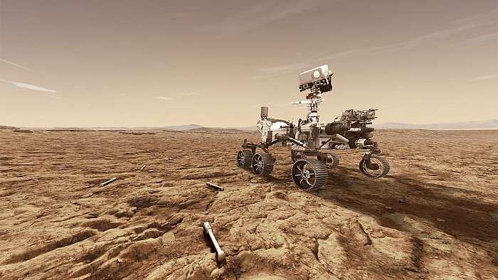 Mars 2020, mintavételi hengerekkel a felszínen, Fotóművészek