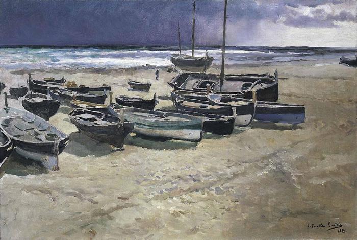 Halászcsónakok a parton (1899), Joaquin Sorolla