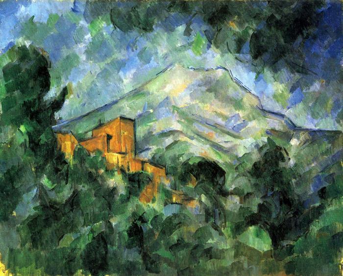 A Sainte- Victoire hegy és Chate Noir, Paul Cézanne