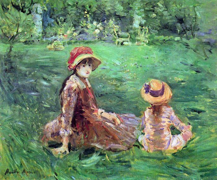 A kertben, Maurecourt-ban, Berthe Morisot