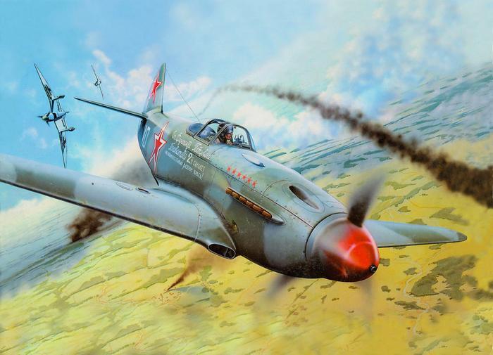 Yakovlev repülőgépek a levegőben,