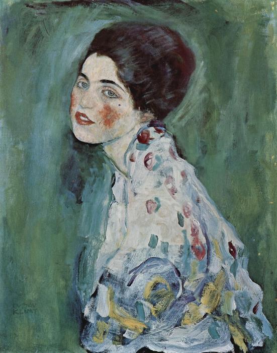 Fiatal lány portréja (1916), Gustav Klimt