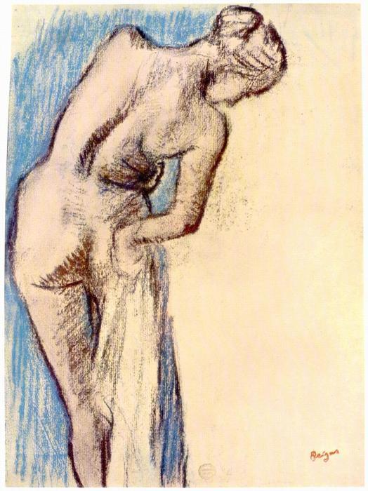 Nő fürdés után, Edgar Degas