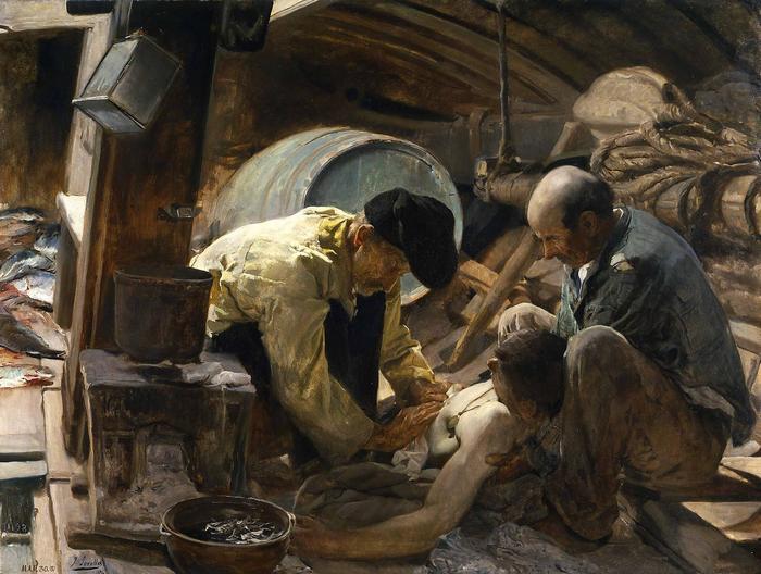 És még mindig azt mondják, hogy drága a hal! (1894), Joaquin Sorolla