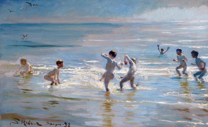 Fiúk fürdőzése - Színverzió 1., Peder Severin Kroyer