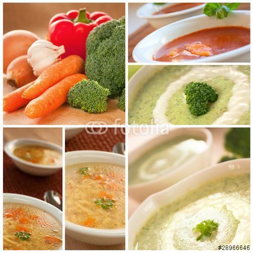 Zöldségleves kollázs, Premium Kollekció