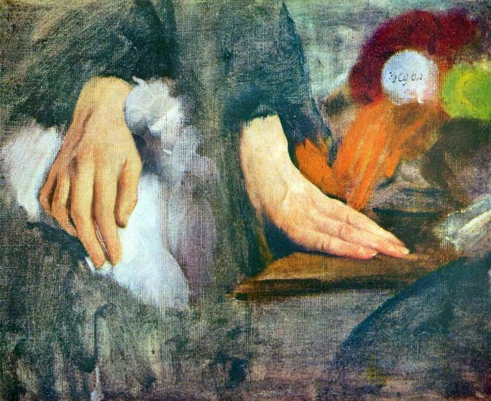 Kéz tanulmány, Edgar Degas