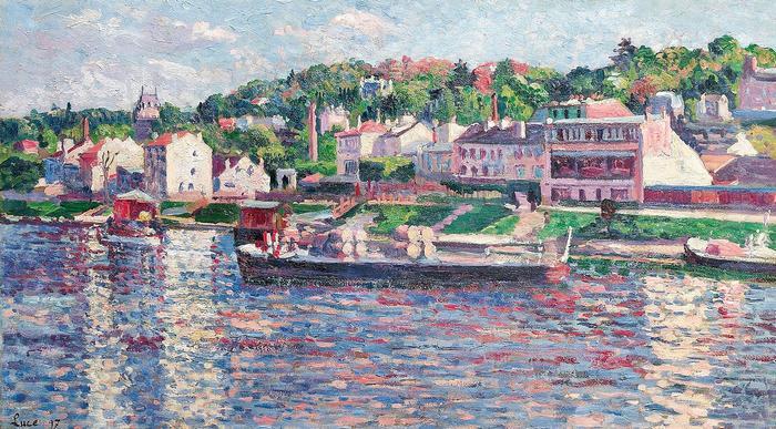 Bárka a folyón, Maximilien Luce