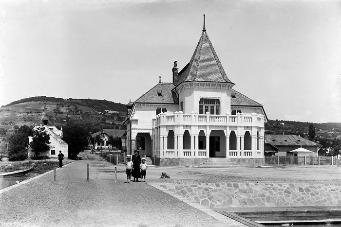 Révfülöp hajóállomás (1917) - színverzió 1, FORTEPAN