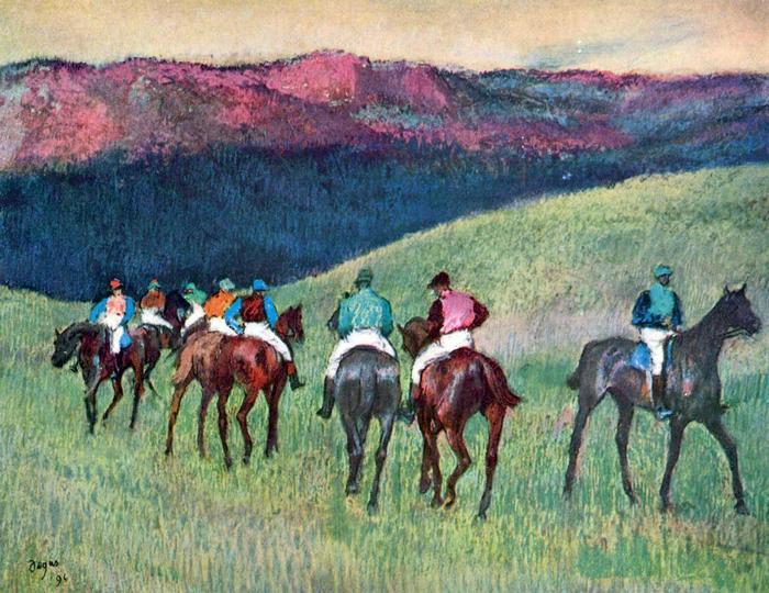 Lóverseny - Az edzés, Edgar Degas
