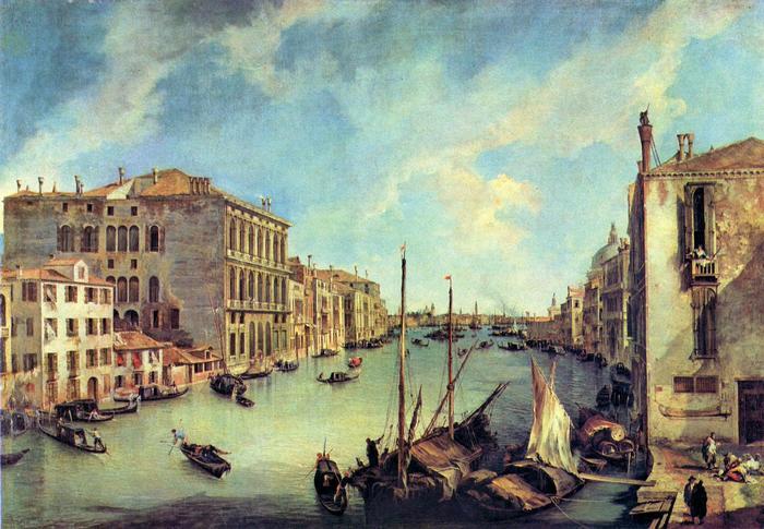 A Grand Canal és a San Vio, Canaletto