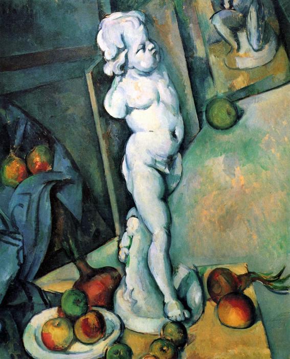 Csendélet angyalka szoborral, Paul Cézanne