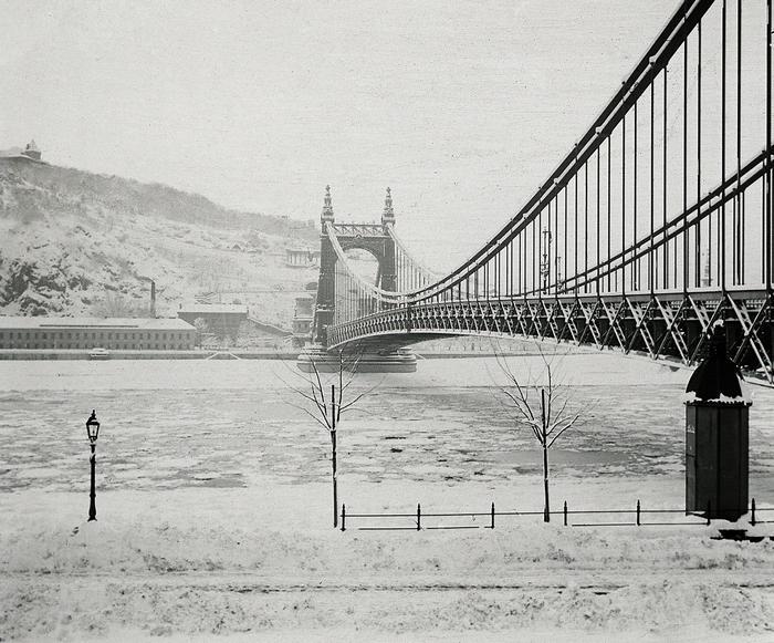 Erzsébet híd, szemben a Rudas gyógyfürdő (1907), FORTEPAN