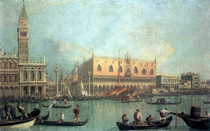 A Dózse-palota, Canaletto