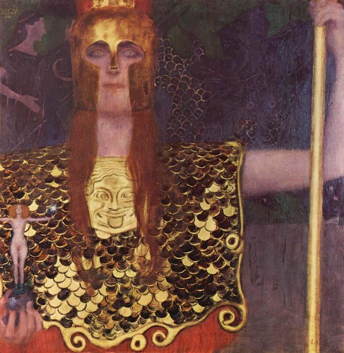 Pallas Athené, 1898, Gustav Klimt