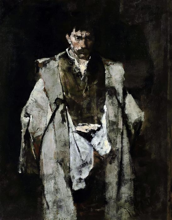 Éjjeli csavargó, tanulmány - színverzió 1., Munkácsy Mihály