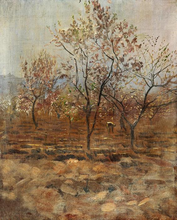 Virágzó fá, Mednyánszky László