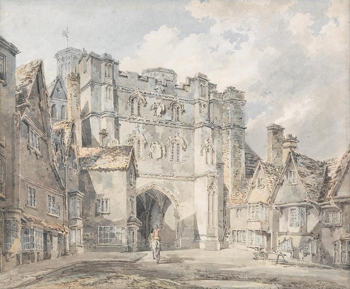 A Christ Church Gate, Canterbury, William Turner