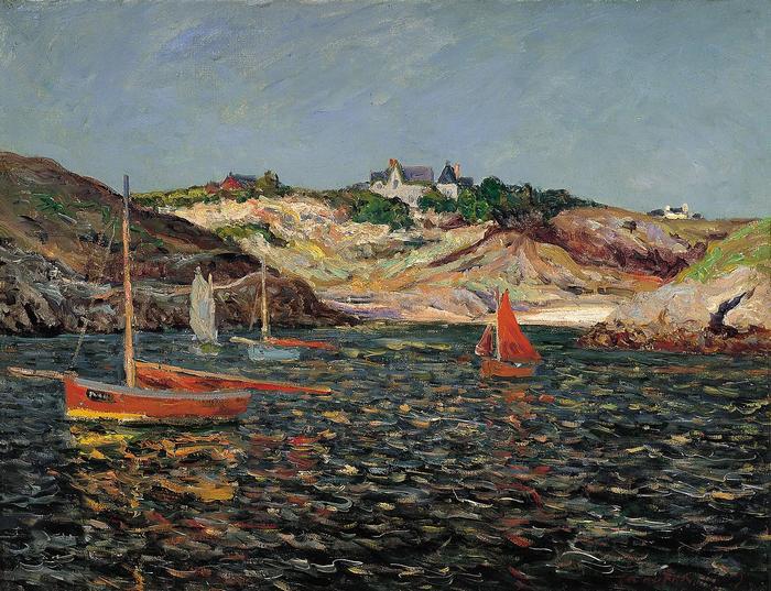 A Port-Goulphar-i kikötő bejárata (1909), Maxime Maufra