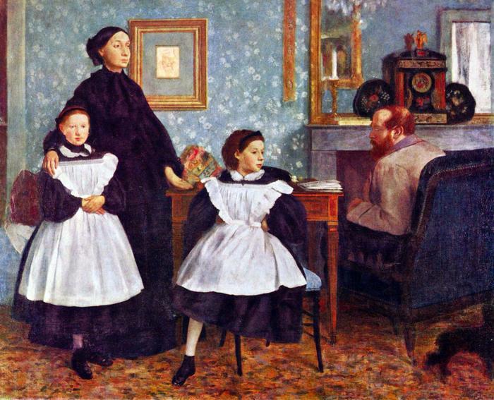 A Bellelli család portréja, Edgar Degas