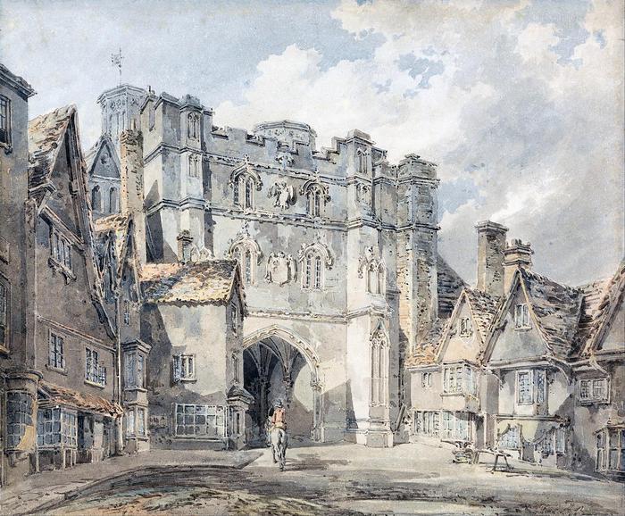 A Christ Church Gate, Canterbury (színverzió 1), William Turner