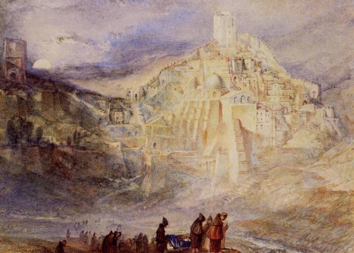 Zarándokok a Kidron völgyében, William Turner